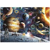 1000 Pieces Space Traveler DIY Assembly Jigsaw Puzzles Landscape Picture Educational Games Toy for Adults Children Pretty Gift