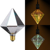 E27 4W Polyhedron LED Retro Edison Decor Glass Bulb Light Lamp AC85-265V