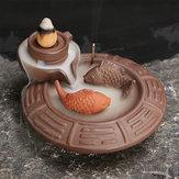 Ceramic Backflow Incense Cone Burner Incense Stick Coil Holder Fragrant Censer Decor
