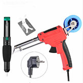 Handskit 220V 60W EU Electric Tin Soldering Iron Automatic Send Tin Device Rework Station Desoldering Pump Solder Wire Welding Tool EU Plug