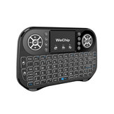 WeChip I10 2.4G Air Mouse Axis Mini Keyboard Remote Control s RGB Backlit Touch Pad pro TV BOX / Projektor