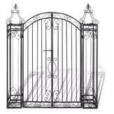 Ozdobna brama ogrodowa KCASA z kutego żelaza 4'x8