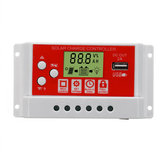 20A 12V/24V Solar Panel Battery Regulator Charging Controller 3-Stage PWM LCD