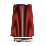 4 Inch Red Truck Long Performance High Flow Cold Air Intake Cone Dry Filter Car Air Filter