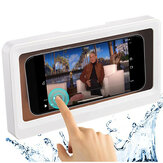 Bakeey Shower Phone Holder Case Touch Screen Mobile Cell Phone Holder Case Wall Mount Storage Box Wall Hanging Free Punching Under 6.8 inches