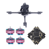 FONSTER Kpro V2 125mm Frame Kit & Geprc GEP-12A-F4 V1.1 F4 Flight Controller 12A ESC & 4 PCS RCINPOWER GTS 1204 5000KV Motor for DIY 3 Inch Toothpick FPV Racing Drone