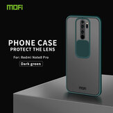 MOFI Anti-Hacker Peeping Slide Lens Cover Antichoc Anti-Scratch Translucent Matte Silicone Protective Case pour Xiaomi Redmi Note 8 Pro Non original