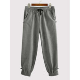 Jogger casual de cintura elástica a rayas para hombre Pantalones