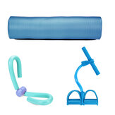 3Pcs Yoga Mats Pedal Tension Rope Leg Thigh Indoor Exercise Fitness Kit