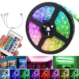 5M DC12V LED Strip Light 5050 RGB Rope Flexible Changing Lamp with Remote Control for TV Bedroom Party Home Led Streifen Christmas Decorations Clearance Christmas Lights