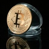 1 peça de moedas de ouro Bitcoin BTC moedas comemorativas Moedas metálicas para moedas