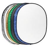 7 em 1 luz Difusor refletor redondo multi-disco + Bolsa para fotografia portátil