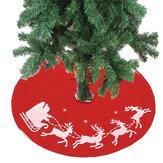 100cmSaiavermelhadaárvorede Natal Saia da árvore de Papai Noel Artigos para decoração de Natal Ornamento