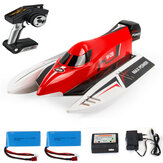 Wltoy WL915 avec deux Batterie 2.4G Brushless RC Boat High Speed 45km / h Racing RTR Model Toys