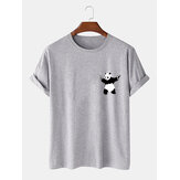 Cartoon Panda Imprimer 100% coton Casual T-shirts manches courtes