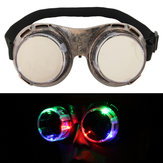 LED Occhialini da campeggio per bambini resistenti al vento, brillanti, antivento Occhiali Light Up Glowing Eyewear