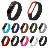 Dual Colorful TPU Watch Band Watch Strap Replacement untuk Xiaomi Miband 4 Non-original