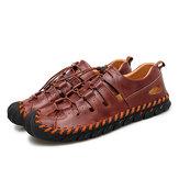 HerenechtleerAdemendezakelijkecasual sandalen