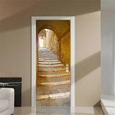 200X77CM 3D Творческая лестница Прохождение ПВХ самоклеящиеся двери стены стикер Декор наклейки