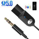 Bakeey USB bluetooth 5.0 Receiver Dongle Cable Adapter 3.5mm Jack Aux bluetooth Music Transmitter Speaker Audio Player For Car