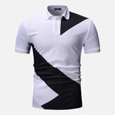 Men Regular Color Block Muscle Fit Golf Shirt