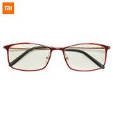 Xiaomi Mijia Anti-Azul Óculos UV Protetor de Olhos à Prova de Fadiga Xiaomi Mi Home Óculos de Proteção Anti-Raios Azuis 40% Óculos - Vermelho