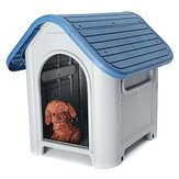 Plastic Dog Kennel Pet Cat House Weatherproof Indoor Outdoor Animal Shelter Cover