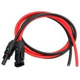 3.5 pies 10 AWG negro MC4 MC4 solar conector del cable de extracción enchufe hembra macho