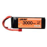 URUAV 7.4V 3000mah Batería 40C T Plug RC Coche Pieza para WLtoys 144001/124018/124019