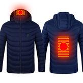 USB unisex elektrický vyhřívaný teplý plášť s kapucí s infračerveným ohřevem s dlouhým rukávem