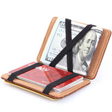 PU Money Card Clip Magic Wallet Casual Clutch Bus Bag Bag