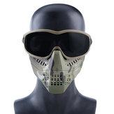 Wosport Тактические очки + половина лица Маска Съемный На открытом воздухе CS Военный Защитный Маска