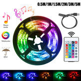 0.5M/1M/1.5M/2M/3M/5M USB 5050 LED Strip Light Waterproof RGB TV Backlight Kit with 24Keys Remote Control