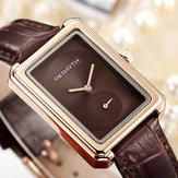 WIEDERGEBURTRE203SquareDialElegantesDesign Damen Armbanduhr