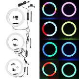 Bakeey 10 polegadas RGB LED luz de preenchimento de anel de selfie lâmpada de anel ajustável de estúdio para transmissão de beleza