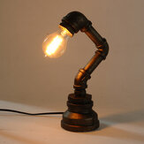E27 Vintage Industrial Retro Iron Pipe Table Desk Lamp Light AC110-240V