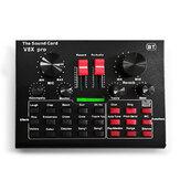 LEORY V8X Pro Karaoke KTV Professional Recording Live Bluetooth Sound Card