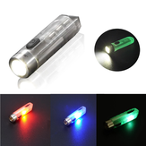 JETBEAM MINI-ONE SE 500lm GITD EDC LED sleutelhanger zaklamp met UV / groen / rood RGB zijlicht Type-C Oplaadbaar mini zaklamp 365nm UV zaklamp Zelflichtgevend campinglicht