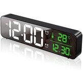 USB LED 3D Music Dual Alarm Clock Thermometer Temperature Date HD LED Display Electronic Desktop Digital Table Clocks