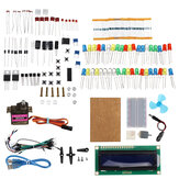 KW-AR-BaseKit Kit with 17 Classes UNO R3 DC Motor Breadboard LED Components Set Geekcreit for Arduino - produits qui fonctionnent avec les cartes officielles Arduino