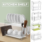 Kitchen Dish Plate Bowl Cup Drying Rack Dishes Holder Drainer Nonslip Shelf