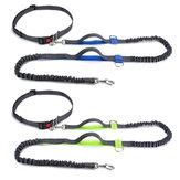الأيدي الحرة الكلب المقود تشغيل الركض الخصر حزام الحيوانات الأليفة التدريب المقاود المرنة