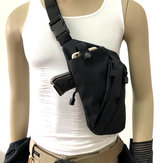 Men Women Canvas Crossbody Shoulder Chest Backpack Anti Theft Gun Tactical Sling Bag Gun Accessories Left/Right