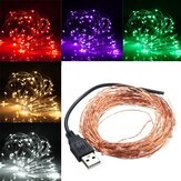 10M 100 LED USB Copper Wire LED String Fairy ضوء for Christmas Party Decor
