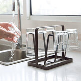 Coffee Drying Rack Kitchen Organizer 6 Cup Mug Holder Mug Glass Bottle Home