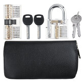 Titanium 24-delig en twee sloten Slotenmaker Training Lock Set Pransparent hangslot AB Lock Picks