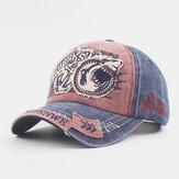 ユニセックスコットン製-古い刺繡パターンカジュアルファッションサンバイザー野球帽