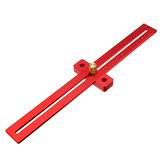 Aluminum Alloy 170/270/370mm Scale Measure Scribing Ruler Woodworking T-type Hole Ruler Marking Tool