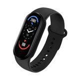 [Acquista One Ricevi One gratis] Bakeey M6 Touch screen da 0,96 pollici Cuore Misurazione della pressione sanguigna Misurazione del sonno Monitoraggio del sonno Quadrante personalizzato Ricarica USB Smart Watch