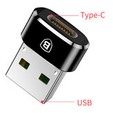 Baseus USB Male to USB Type C Female OTG Adapter Cable Converter For Nexus 5x 6p Oneplus 3 Xiaomi 6